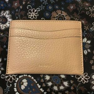 BURBERRY NWT Camel Cardholder Card Case Leather